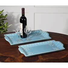 Nilah 2 Piece Tray Set