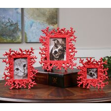 3 Piece Coral Picture Frame Set