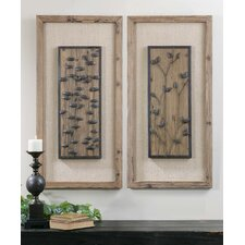 2 Piece Chinook Wooden Wall Art Set