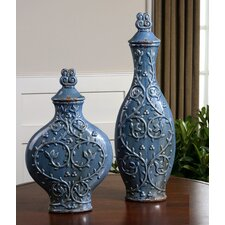 2 Piece Aoi Decorative Urn Set