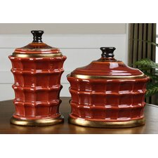 Brianna 2 Piece Ceramic Canister Set