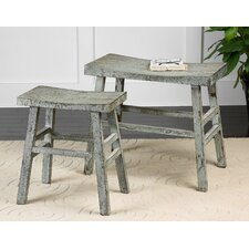 Scout 2 Piece Wood Bench Set