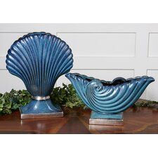 2 Piece Shell Sculpture Set