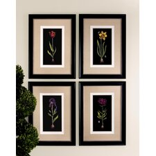 4 Piece Springtime Flowers Wall Art Set