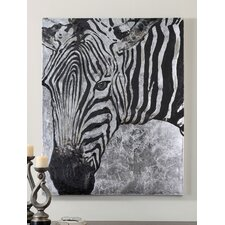 <strong>Uttermost</strong> Zebra Knows Hand Painted Wall Art