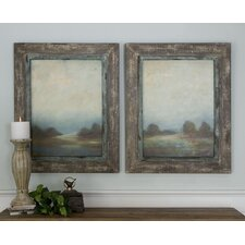 2 Piece Morning Vistas Framed Wall Art Set