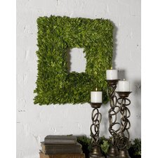 Square Wreath Preserved Boxwood