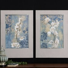 Blossoms 2 Piece Framed Painting Print Set