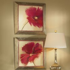 Poppy Power Floral 2 Piece Framed Painting Print Set