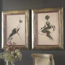 <strong>Uttermost</strong> 2 Piece Tribute to Rene and Odette Wall Art Set