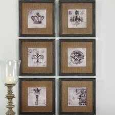 6 Piece Symbols Wall Art Set