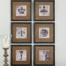 Symbols 6 Piece Framed Painting Print Set