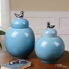 2 Piece Becker Decorative Canister Set
