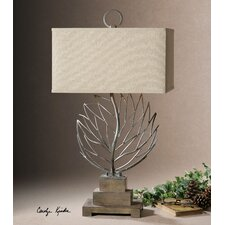 """Argento 33"""" H Table Lamp with Rectangle Shade"""