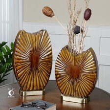 Zarina 2 Piece Marbled Ceramic Vase Set