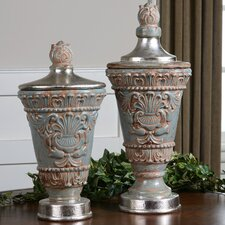 2 Piece Deniz Decorative Urn Set