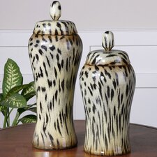 2 Piece Malawi Decorative Urn Set