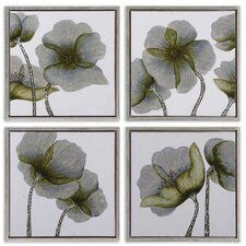 Mini Floral Glow by Grace Feyock 4 Piece Framed Original Painting Set