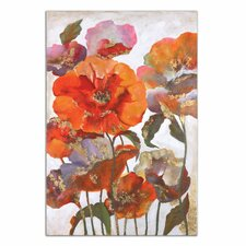 Delightful Poppies Floral Original Painting on Canvas