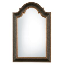 <strong>Uttermost</strong> Ribbed Arch Black and Gold Wall Mirror