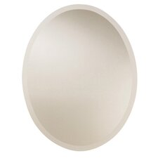 Large Frameless Oval Wall Mirror