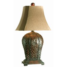 """Valdemar 34"""" H Table Lamp with Bell Shade"""