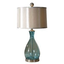 "Blown Meena 29"" H Table Lamp with Drum Shade"