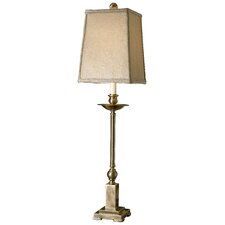 "Lowell Candlestick 34"" H Table Lamp with Square Shade"