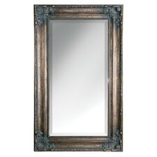 Bertha Oversized Wall Mirror in Antiqued Crackled Bronze Leaf