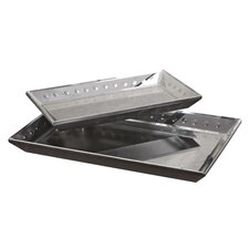 Alanna Tray Set in Matte Black (Set of 2)