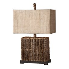 Woven Rattan Barbuda Table Lamp