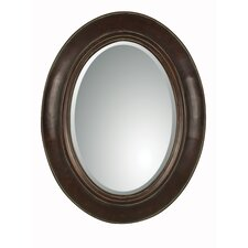 Tivona Oval Beveled Mirror in Dark Chestnut