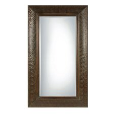 <strong>Uttermost</strong> Guenevere Rectangular Beveled Mirror in Mahogany Brown
