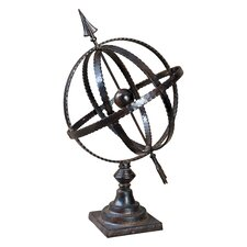 Diez Metal Globe in Antique Brown