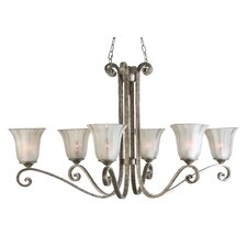 <strong>Uttermost</strong> Lyon 6 Light Oval Chandelier