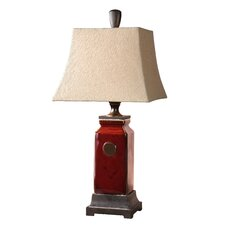 "Reggie 34"" H Table Lamp with Rectangle Shade"