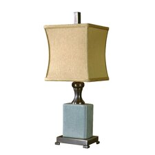 "Bernadette 24"" H Table Lamp with Square Shade"