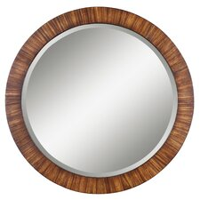 <strong>Uttermost</strong> Jules Round Mirror in Antiqued Zebrano Veneer
