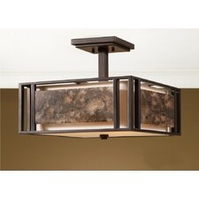 Quarry 3 Light Semi Flush Mount