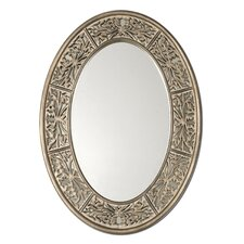 Francesco Oval Small Mirror in Antiqued Champagne