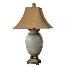 """Kayson 37"""" H Table Lamp with Rectangle Shade"""