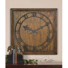 Garrison Wall Clock in Burnished Honey Pecan