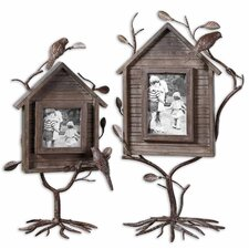 Bird House Picture Frame (Set of 2)
