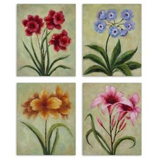 Fun Time Florals Wall Art (Set of 4)