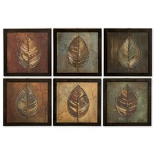 6 Piece New Leaf Framed Panel Set