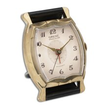"Wristwatch 3.5"" Grene Alarm Clock"