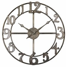 "<strong>Uttermost</strong> Oversized 32.25"" Delevan Wall Clock"