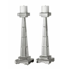 Alanna Metal Candlesticks (Set of 2)