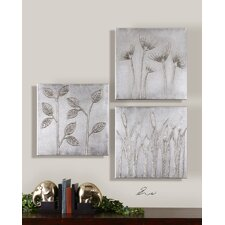 "Sterling Trio Canvas Wall Art By Eve - 20"" x 20"" (Set of 3)"