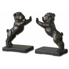 Bulldogs Cast Iron Book Ends (Set of 2)